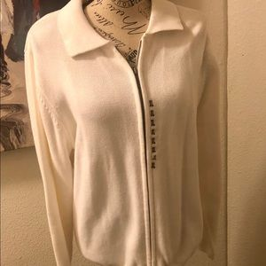 NWT Croft and barrow size xl zip up sweater